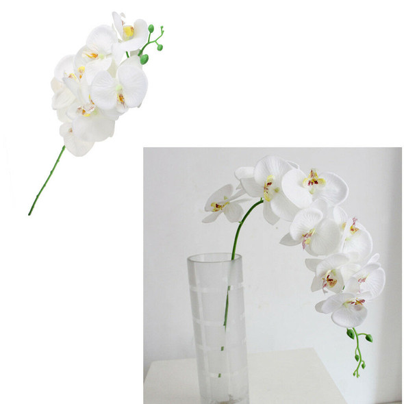4x White Artificial Butterfly Orchid Silk Flower for Home Wedding Party 93cm