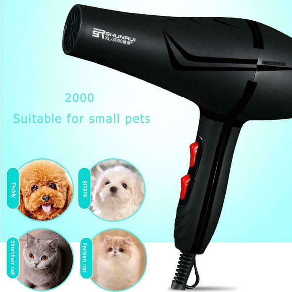 800W 3 Heat Setting 2 Speeds Anion Pet Hairdryer Cold Hot Air Hair Dryer Dry #s