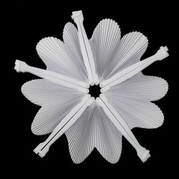 48 pcs Fan White Paper Deco Decoration Wedding Party Gift for the Guests An A9Q6