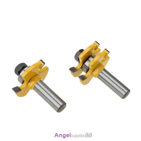 """1/2"""" Shank Matched Tongue and Groove Router Bit Set Woodworking Milling Cutter"""