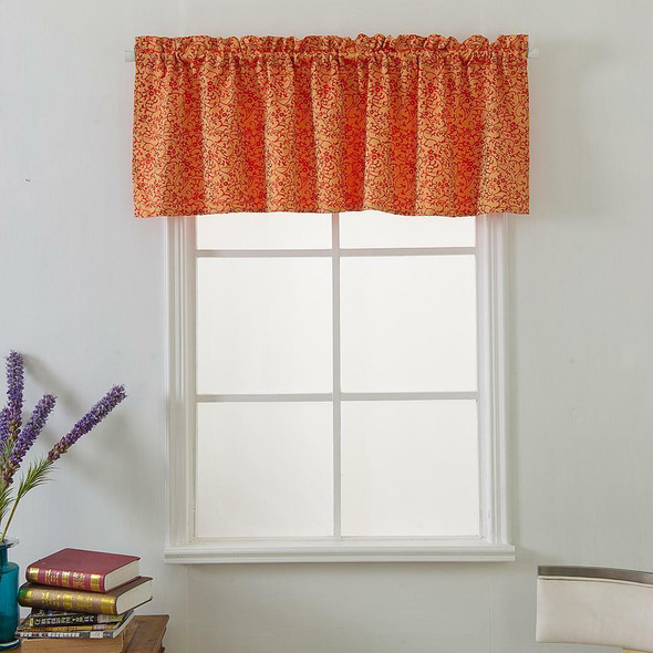 3Pcs Red Rod Pocket Short Tier Curtains Panels Half Drapes for Bathroom
