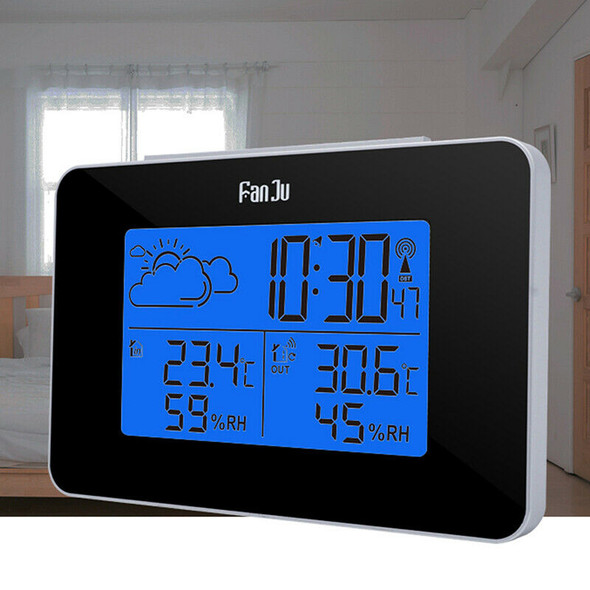 Wireless Weather Station Digital Clock Humidity Outdoor Thermometer Sensor BX