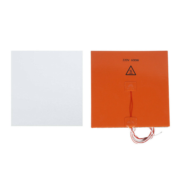 600W 220V 200*200mm Silicone Heating Mat Hot Bed+Thermal Insulation Cotton