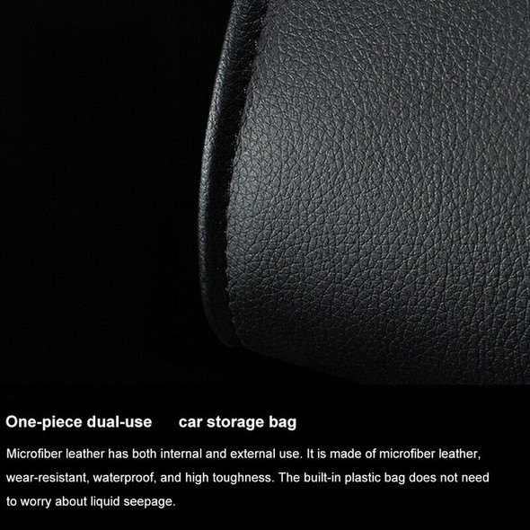 Dual-Use Storage Bag Car Trash Rubbish Bin Car Back Seat Hanging Organize B C1E7