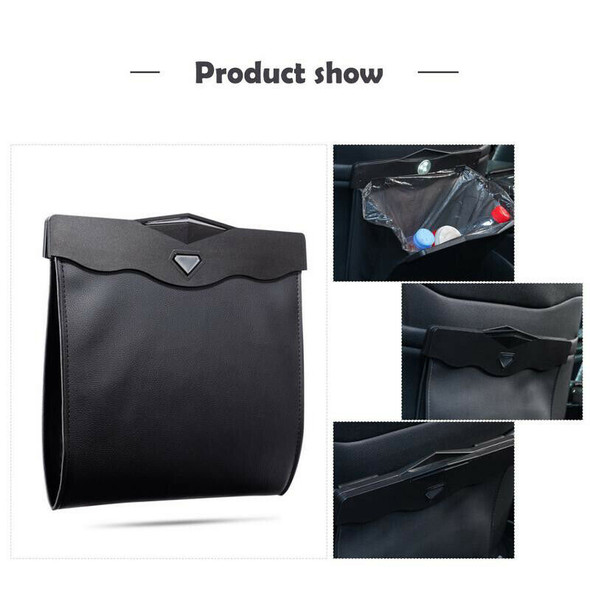 Dual-Use Storage Bag Car Trash Rubbish Bin Car Back Seat Hanging Organize B Z6Y2