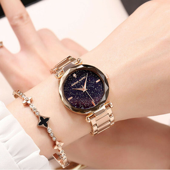 Hannah Martin Japan Movement Night Flash Starry Sky Dial Stainless Steel Wa H7C8