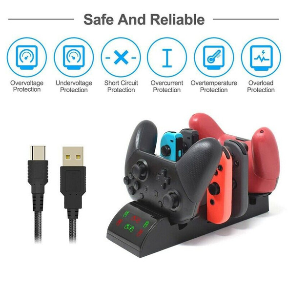 Multi-Function 8 in 1 Wireless Charger Base Game Controller Base Gamepad Ch M4Z9
