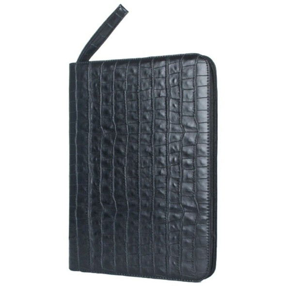 Large Capacity Fountain Pen Case PU Leather Black Color 48 Slots Pen Pouch  A2B5