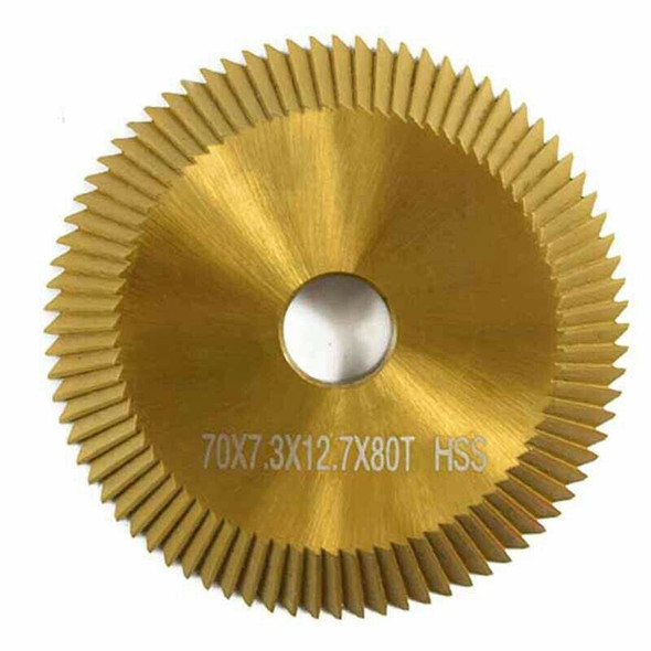 1Pc Titanium Coated Key Machine Cutter 70X7.3X12.7Mm 80T Hss Key Duplicate  S3L2