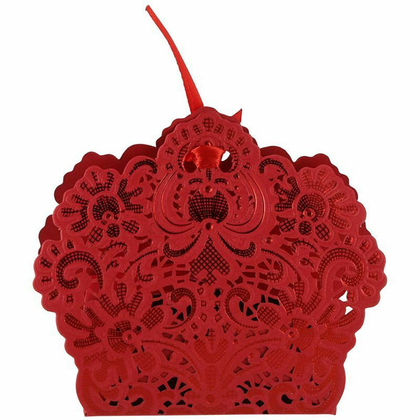 100pcs Favor Box Candy Wedding Gift Boxes (Red) N9J5