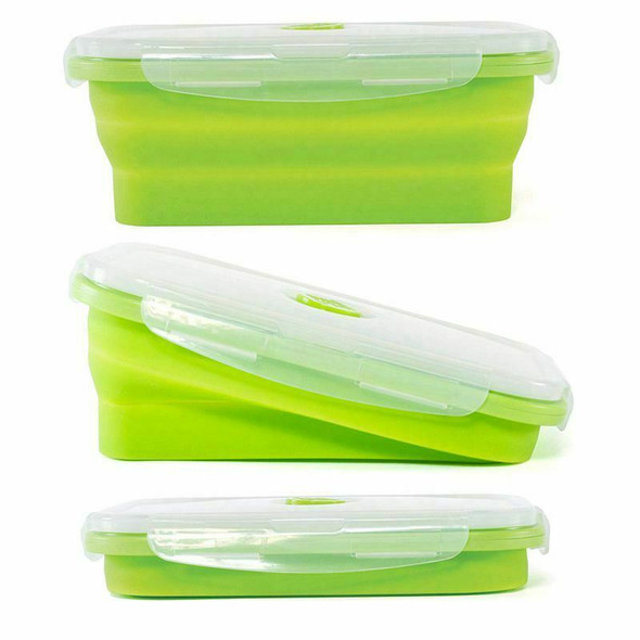 Thin Bins Collapsible Containers-Set of 4 Silicone Food Storage Containers  E1Z8