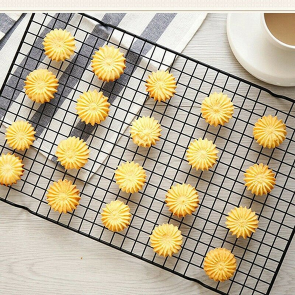 4X(Non-Stick Cake Cooling Rack Baking Rack Cookies Biscuits Bread Muffins DR1E9)