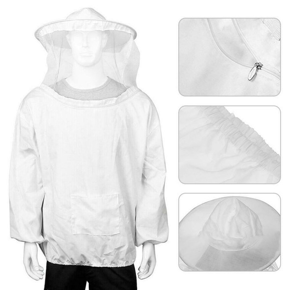 1pc Protective Beekeeping Suit Safe Gloves Veil Hood Full Body Bite Protection