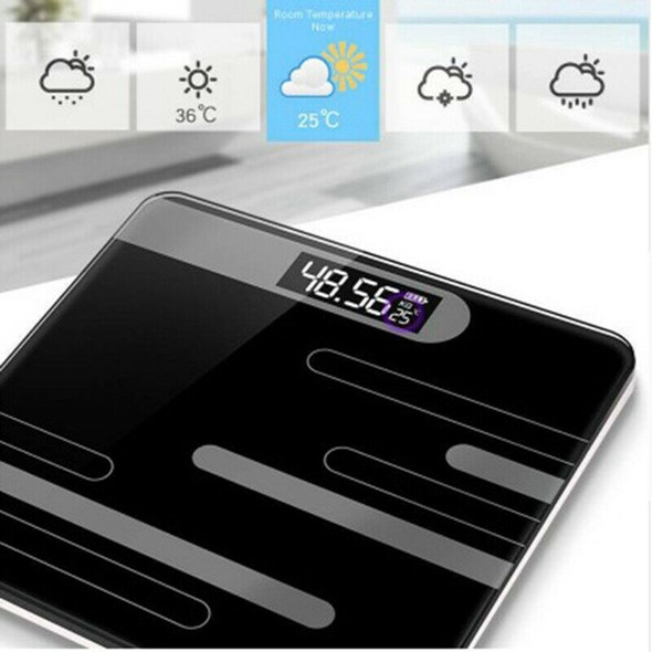 Bathroom Floor Humanscale Glass Intelligent Electronic Scale Usb Charging L C6Y4
