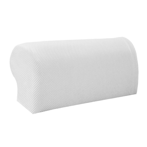 4 Pair White Stretchy Sofa Armrest Covers Armchair Slipcovers Protector