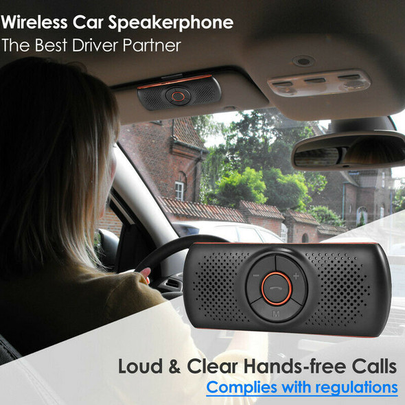 Car Bluetooth 4.2 Car Speakerphone Stereo Music Receiver Player Sound Enhan S3F4