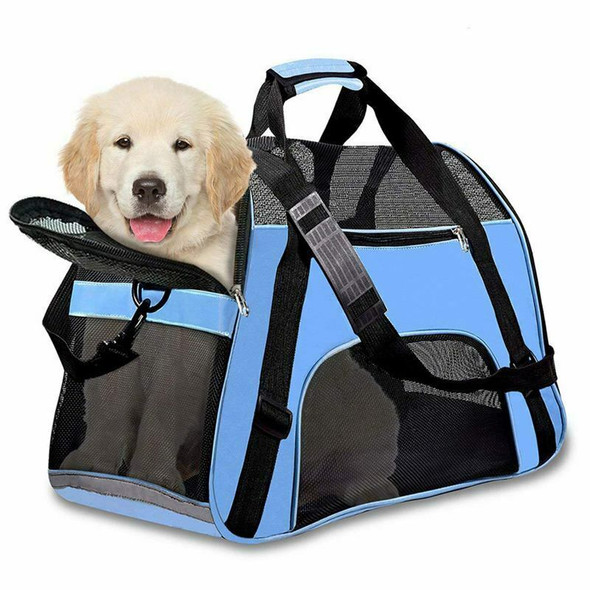 Pet Travel Carriers Soft Sided Portable Bags Dogs Cats Airline Approved Dog X1M3