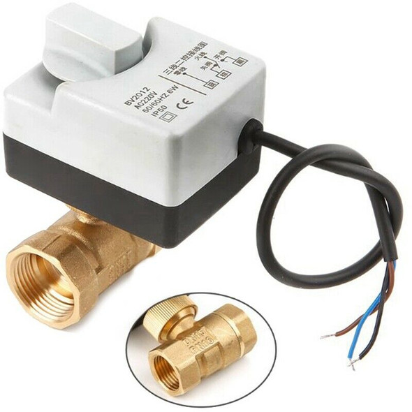 Ac220V Dn15 2 Way 3 Wires Motorized Ball Valve Electric Actuator With Manua G4F1