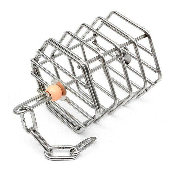 Pet Bird Parrot Squirrel Bold Stainless Steel Food Hanging Cage Foraging To E3K5