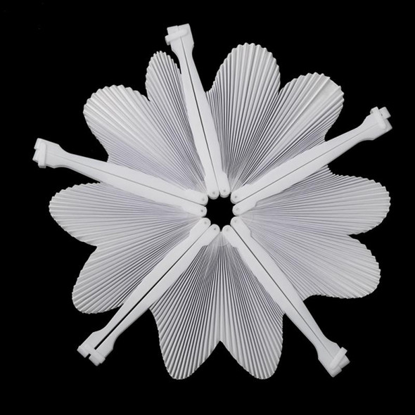 48 pcs Fan White Paper Deco Decoration Wedding Party Gift for the Guests An U6A9