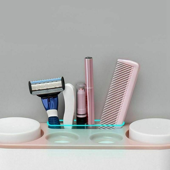 ecoco Automatic Toothpaste ecoco Dispenser Dust-Proof Toothbrush Holder Wit Q1L8