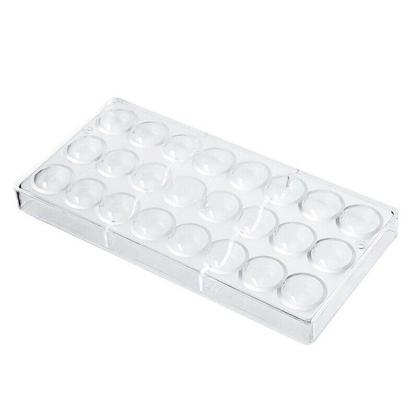 5X(24 Holes Semi Sphere Chocolate Mould Polycarbonate Chocolate Bar Mold H X6J4)