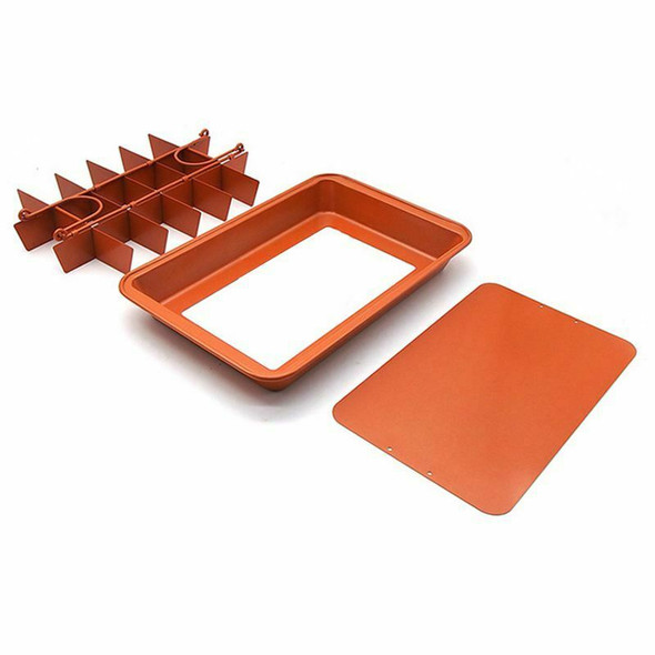Brownie Non-stick Baking Pan with Built-In Slicer / Cutter (Large) G9Q3