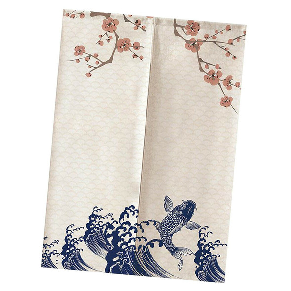 Door Way Noren Curtains Kitchen Short Cotton Linen Tapestry 85x150cm Style 3