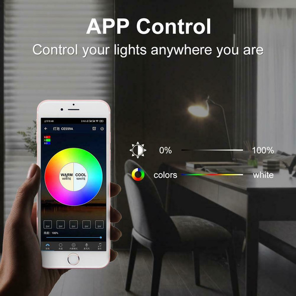 E27 9W WIFI Smart LED Bulb RGB Light Lamp Lights Globe For Alexa Google Home