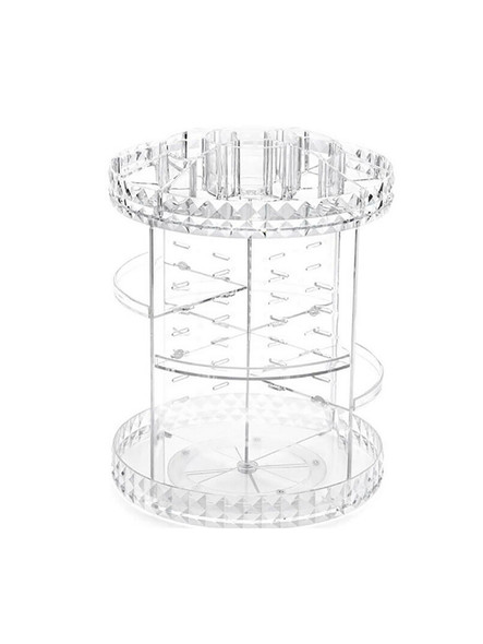 Acrylic Cosmetic Makeup Organizer Storage Box Shelf 360 Degrees Rotating Display