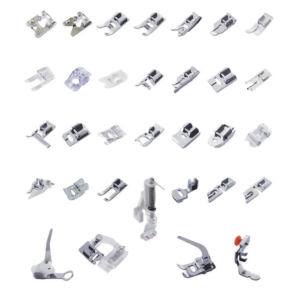 32pcs Domestic Sewing Machine Foot Presser Feet For Brother Singer Janome