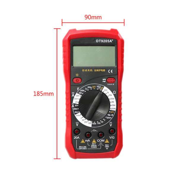 Portable LCD Display Digital DT9205A+ Multimeter With Test Lead Probe New Hot