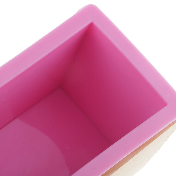 Silicone Soap Mold with Wood Box with Loaf Cake Straight & Wave Slicer Maker