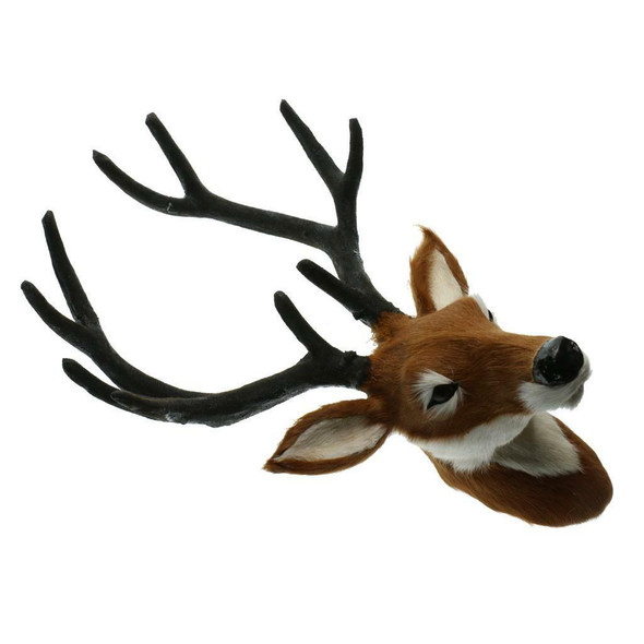 2ps cAnimal Wall Decor Creative Home Accessories Deer Head Statues Sculpture