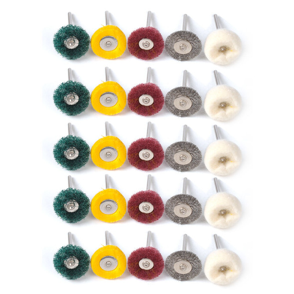 25x Polishing Pad Brush Buffing Wheel Pad Accessories fit for Rotary Tool Hf