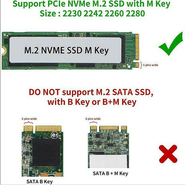 M.2 NVME SSD to USB 3.1 Adapter PCI-E to USB-A 3.0 SSD Internal Converter Card3C