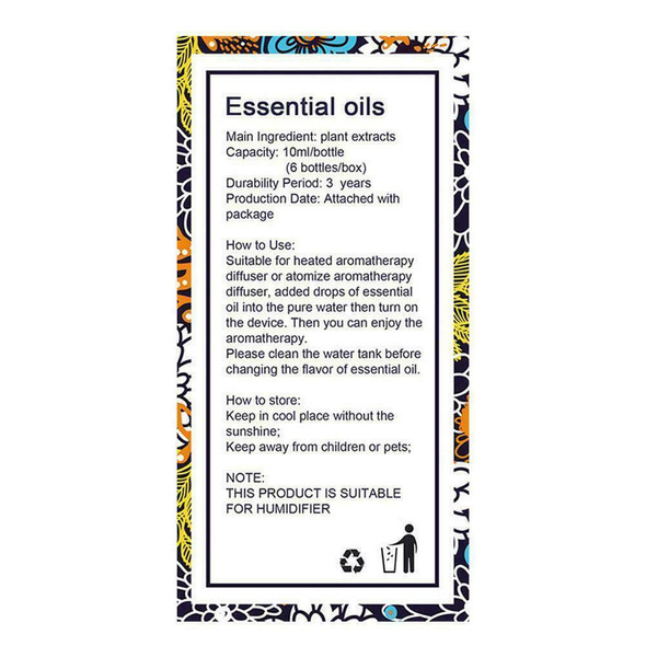6bottle Pure Essential Oil Sets-Natural Aromatherapy For Oil Diffuser Humid P0U4