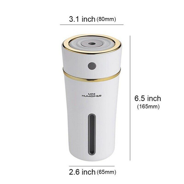Rechargeable 300Ml Usb Mini Humidifier With Battery, Cute Cup Style Cool Mi Y4H7