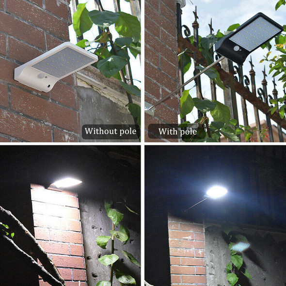 Upgraded 48 leds Solar Light Color Adjustable With Controller Three Modes W G8M8
