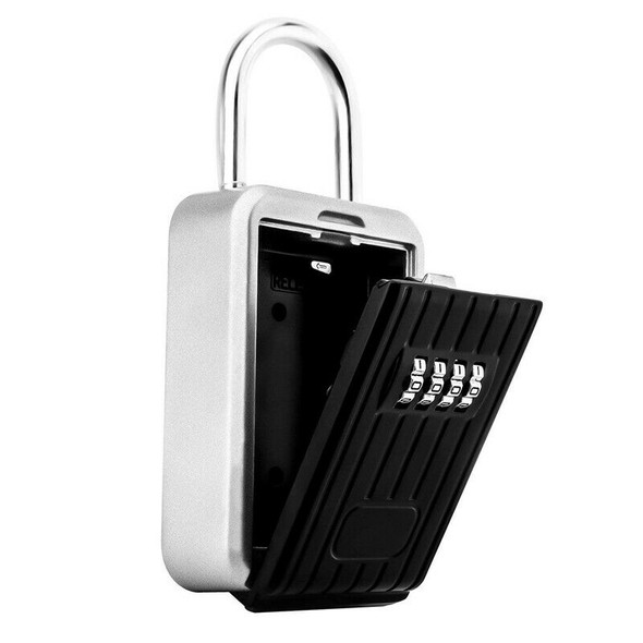 Portable Key Lock Box Secure Key Holder Durable Aluminium Alloy Material wi D9G3