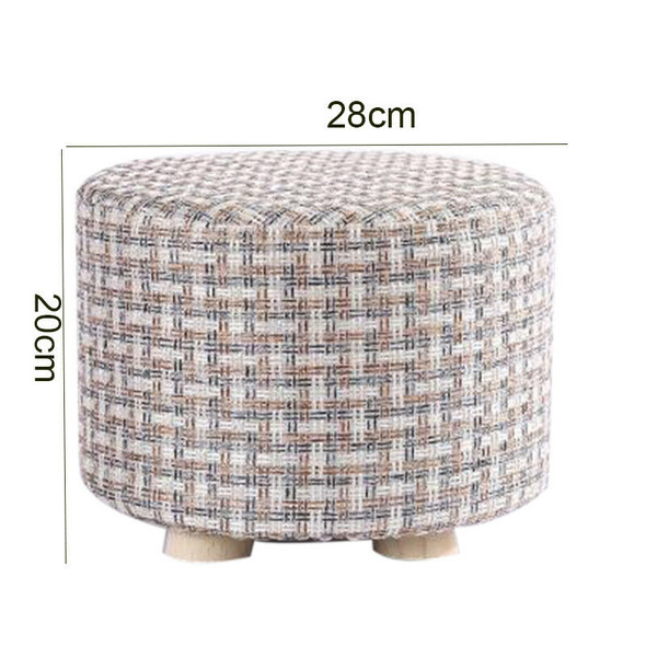 Small Stool Wooden Ottomans with Linen Cotton Cover Dining Benches Home Wor V4I4