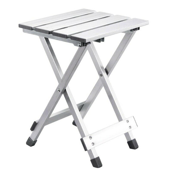 Outdoor Portable Aluminum Alloy Folding Stool Travel Picnic Chairs J3T3
