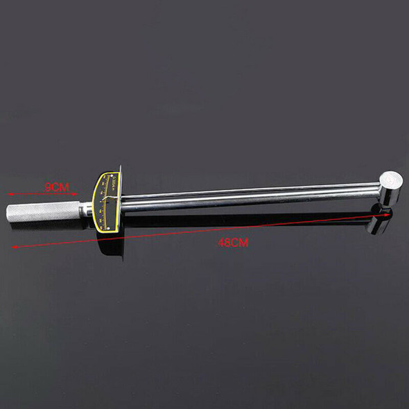 Pointer Socket Torque Wrench 300N.M Dial Torque Spanner Auto Repair Tension T6I1