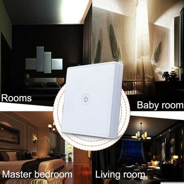 12V Wireless Touch-Switch 1 Gang 1 Way Waterproof Light Switch Touch-Panel  R1D1