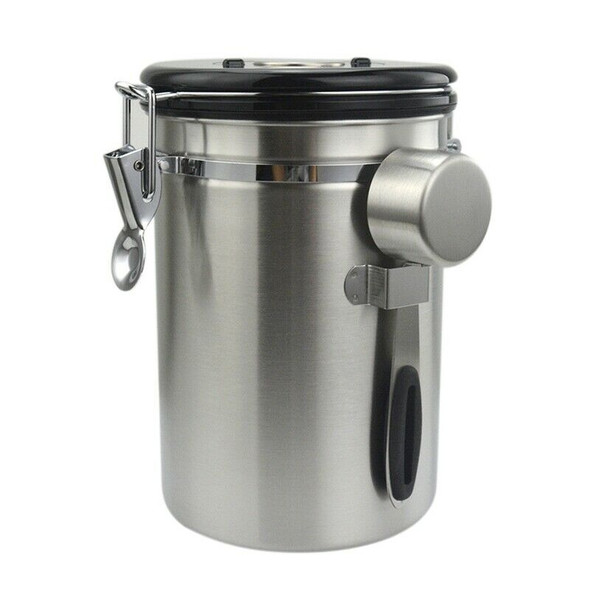 Airtight Coffee Canister Set,1800 Ml Large Stainless Steel Tea & Coffee Sto P2T8