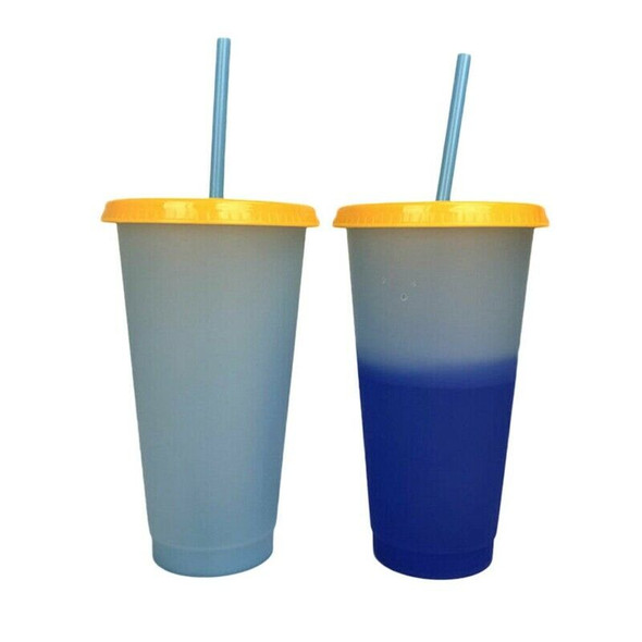 5 Cups Color Changing Cold Reusable Temperature Color Changing Cup E4H9