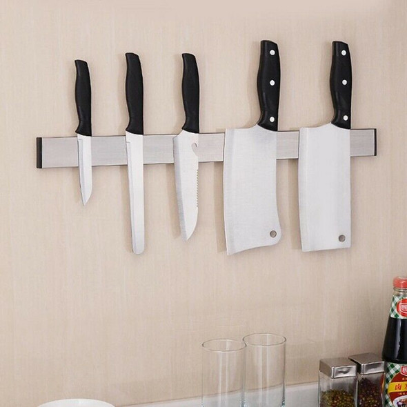 Magnetic Self-adhesive 51CM Length Knifes Holder Stainless Steel Block Magn Y8Y8