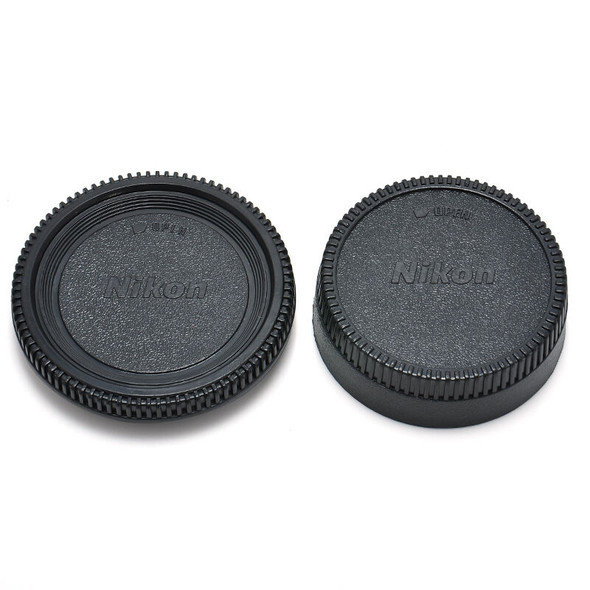 Rear Lens Cover + Camera Body Front Cap for Nikon AF AF-S DSLR SLR Lens