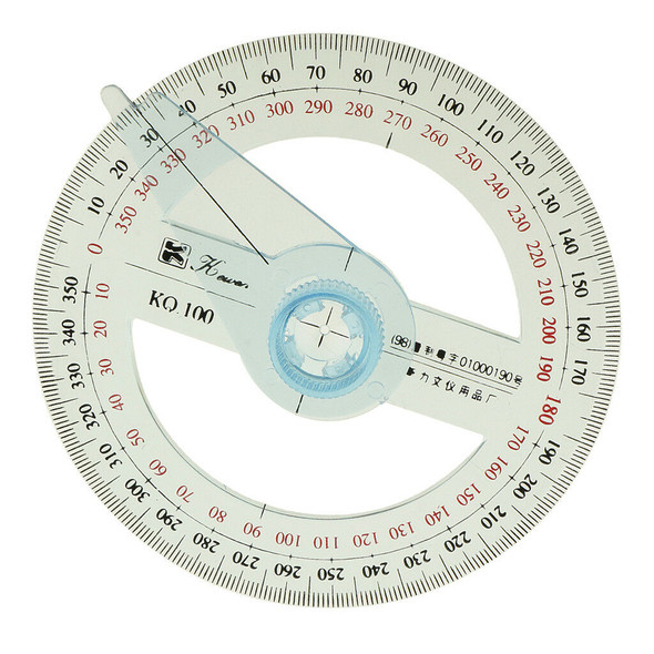 360 Degree Protractor 10cm Angle Finder Sewing Arm Student Office Engineer
