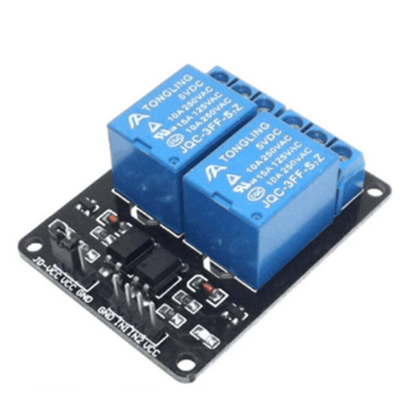 2 Channel Mini Electronics Outlet Relay Module Timer 5v  AC 250V 10A